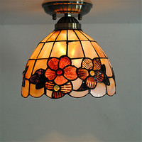 Flush Mount LED Vintage Ceiling Light For Living Room Lights Fixtures Tiffany Style Ceiling Lamp Lampara