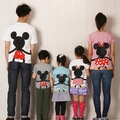 Family Matching Cotton T-shirt Cartoon Mother Daughter Father Son Tshirt Clothes Family Clothing Parent-Child Family Set 3XL TF8