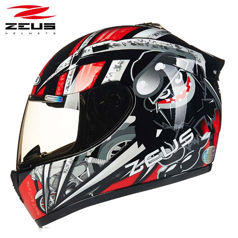 Men Runaway ZEUS motorcycle racing helmet,motorbike full face moto motocross off road helmet size M L XL XXL new tanked motorcycle full helmet double lens knight racing motorbike helmet safety caps ece certificate size l xl xxl