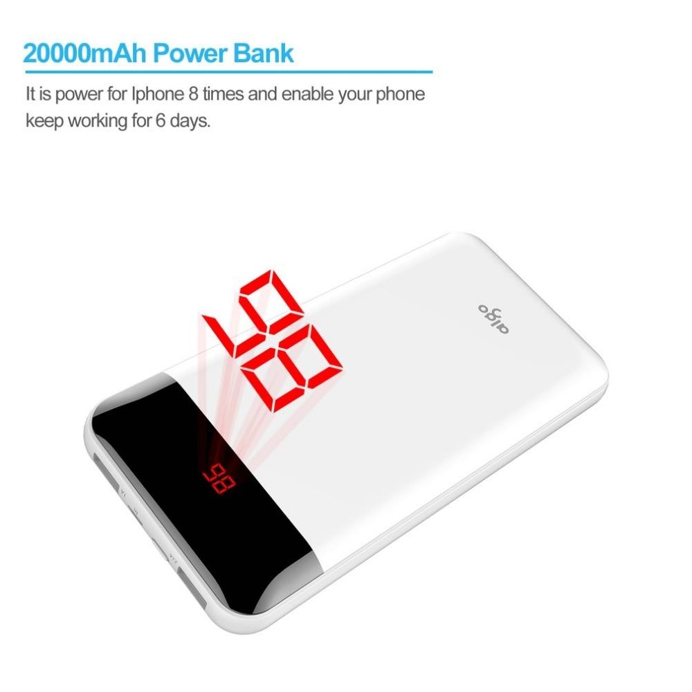 Aliexpress Buy Aigo E20000 20000mah Universal Power Bank For