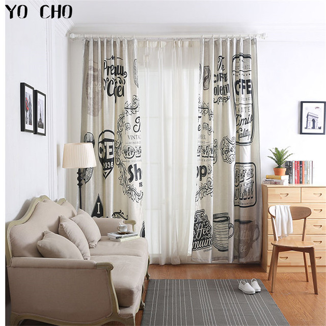 YO CHO Hot European Retro Style Window Curtains For Living Room Luxury Hotel Blackout Coffee