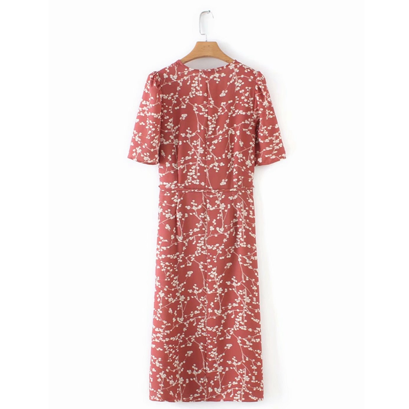 Summer women dress elegant vintage beach dress short sleeve causal sexy wrap long dress boho korean vestidos 8