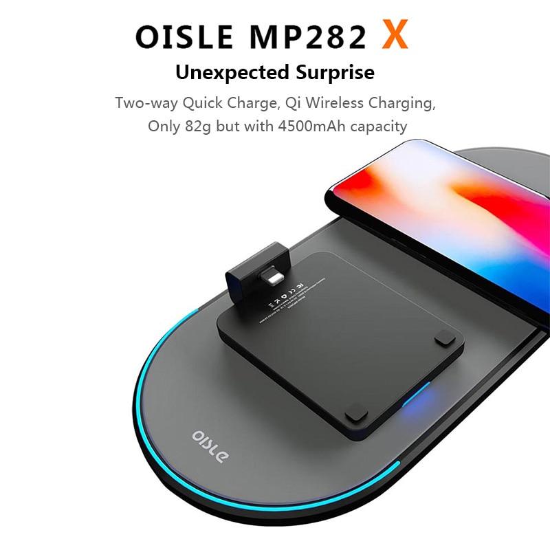 Batterie externe sans fil mince chargeur de batterie de secours externe pour iPhone 8/Samsung S6/One plus 5/HTC boîtier d'alimentation récepteur Qi intégré