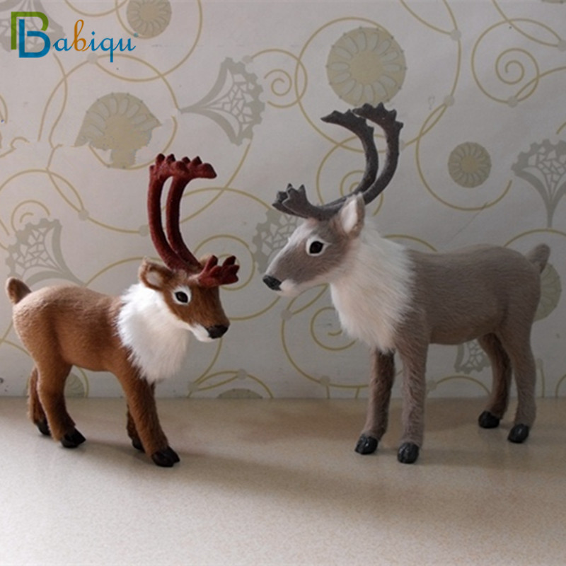 Babiqu 1pc Lovely Simulation Plush Elk Toys Soft Sika Deer Cute New Year Christmas Decorations Baby Kids Birthday Gift