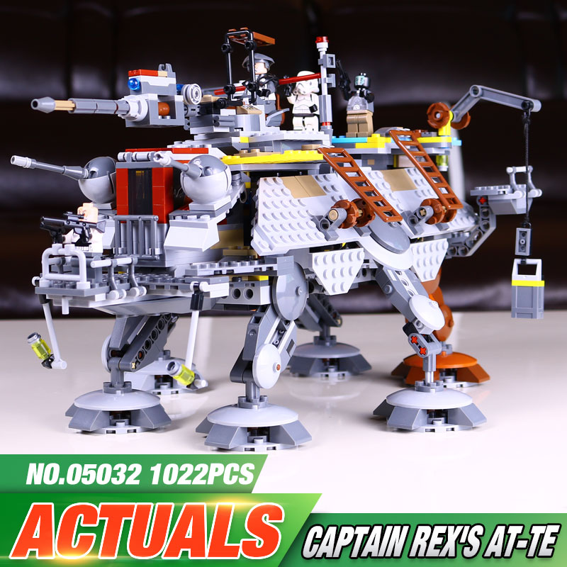 ФОТО Free Shipping 1022pcs 2016 New LEPIN 05032 Star Wars Captain Rex's AT-TE Building Blocks Brick Toy with 75157