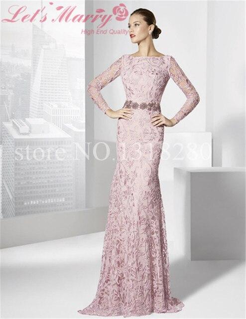 575d009a968 WDZ-222 Abiye Uzun Elegant Mother Mature Dress Sash Long Lace Sleeve  Flowers Pattern Mother