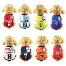 New Arrival Summer Pet Dog Cloth Football Jersey Mesh Vest W