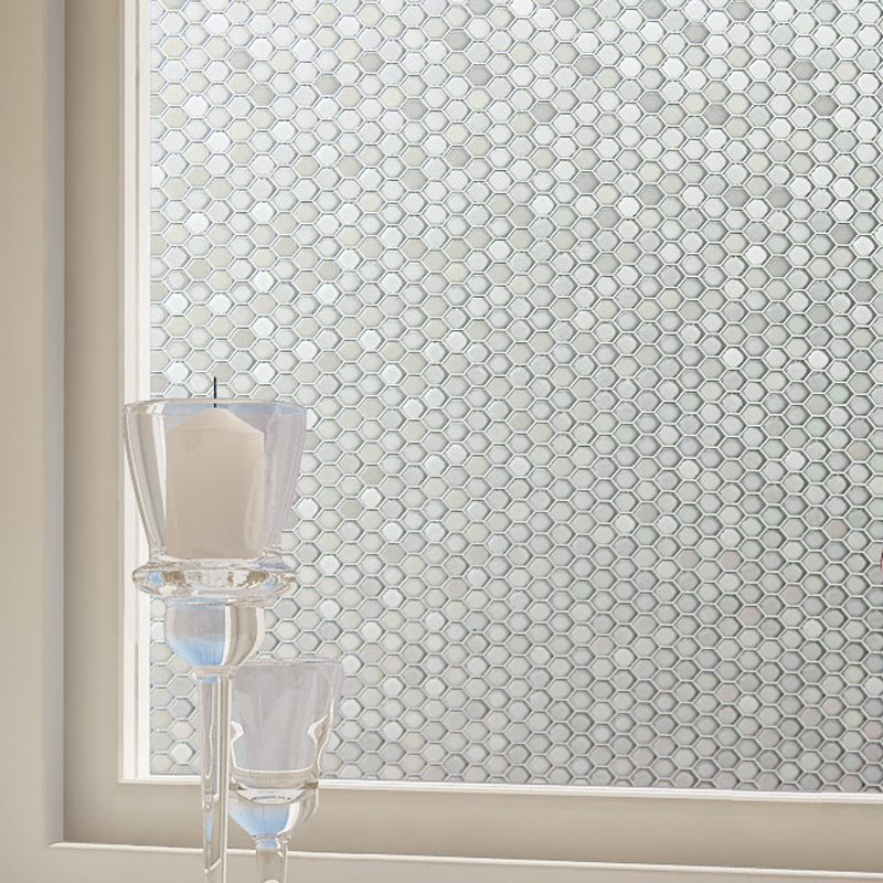 Factory Direct Sale Home Decor Classical Radiation/Heat Protection Static Cling White PVC Window Films BZ106-001