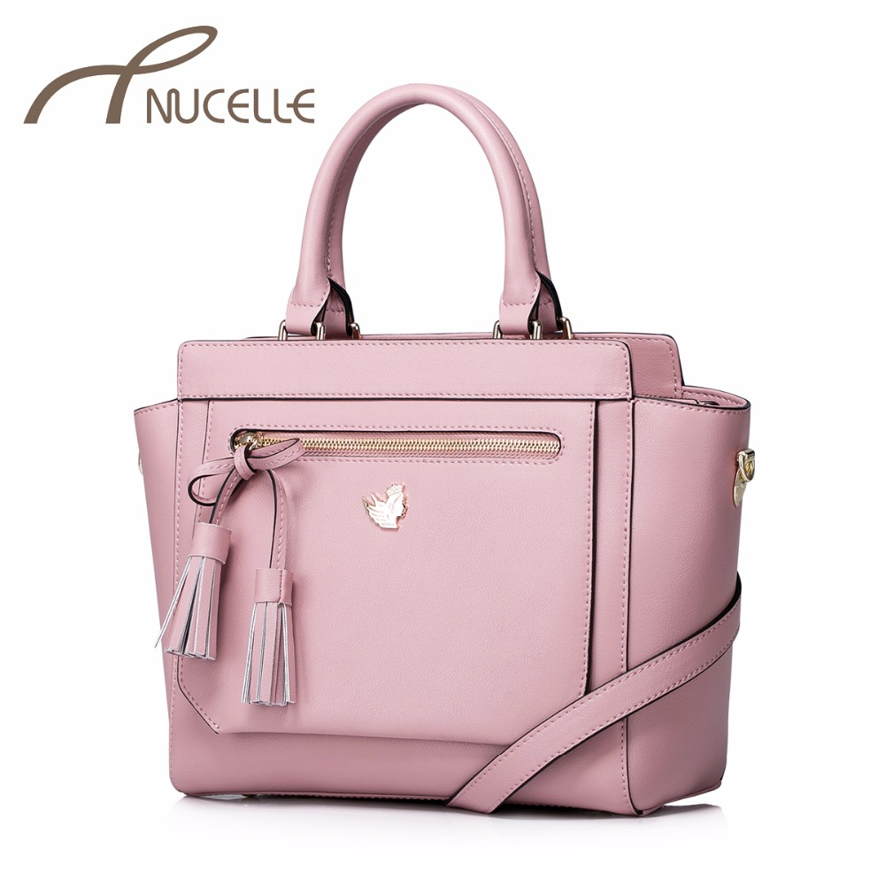 Nucelle Women Split Leather Handbag Fashion Ladies Tassel Leather Tote Messenger Purse Female Wings Corssbody Bags NZ4927 nucelle women split leather messenger bags ladies fashion chain mini cross body bags female flap shoulder bags for phone nz5902