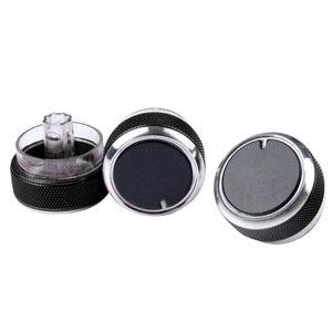 3pcs/set Car Air Conditioning Knob heat control Switch Button Car Accessories Aluminum Alloy AC Knob for Ford Focus