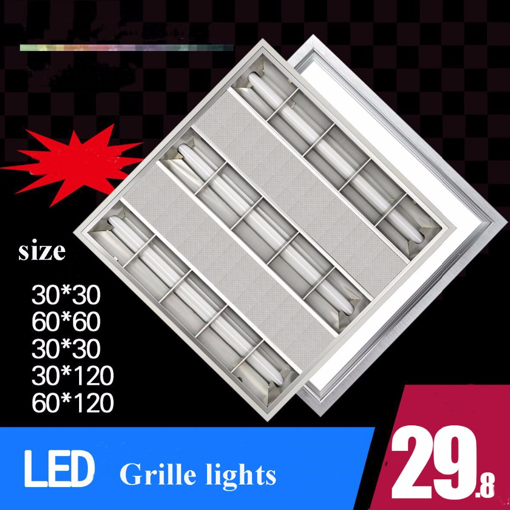 Grill stainless steel reflector <font><b>T8</b></font> LED <font><b>tube</b></font> holder <font><b>bracket</b></font> for office lighting support wire fixture With G13 image