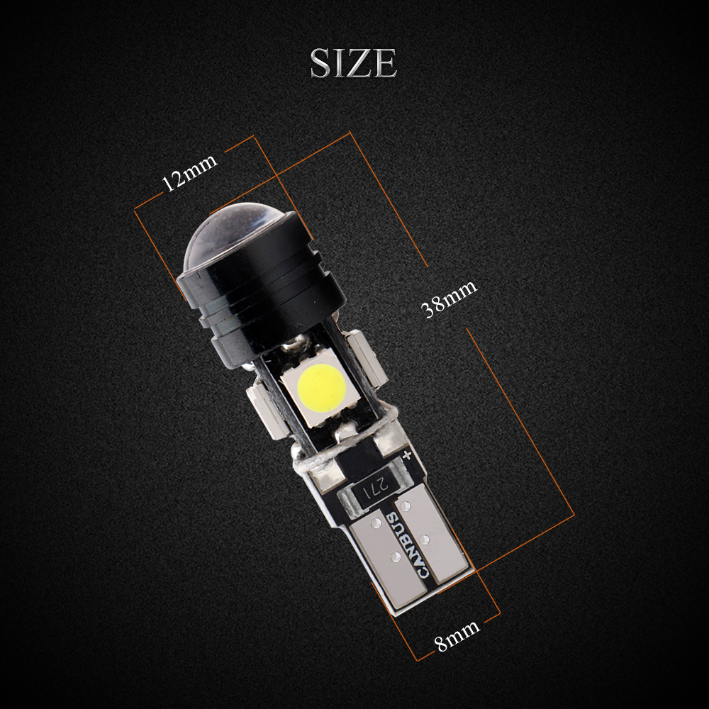 10PCS No error Canbus T10 5050 4SMD 1 5W LED Bulbs 194 168 W5W DC12 Car Lights with White Ice Blue Pink Red Blue in Signal Lamp from Automobiles Motorcycles