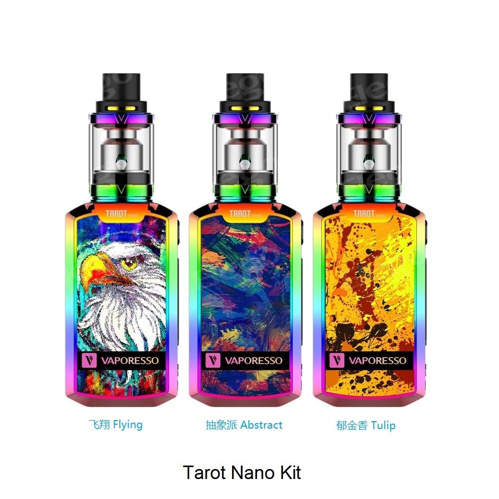 2016 Newest Vaporesso Tarot Nano E Cigarette Kit 80W 2500mAh Box Mod Kit With 2 0ml