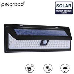 Outdoor 118LED Solar Rechargeable Garden Light Night Motion Sensor Solar Lamp Superbright LED Wall Lights For Yard Street SL005