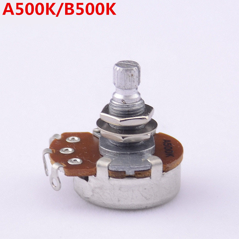 1 Piece GuitarFamily Alpha A500K/B500K Big Potentiometer(POT) For Electric Guitar/Bass ( #0163 ) MADE IN KOREA 1 piece guitarfamily metal knob abalone inlay for electric guitar bass made in korea 18mm 18mm 6 0mm 1254