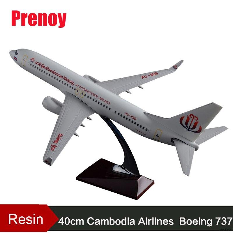 где купить 40cm Resin Boeing 737 Cambodia Airlines Airplane Model Static Aircraft Model Air Cambodia Airbus B737 Airways Model Collection по лучшей цене