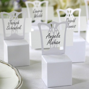 100pcslot wedding white chair candy box wedding gift box wedding favors wholesalechina