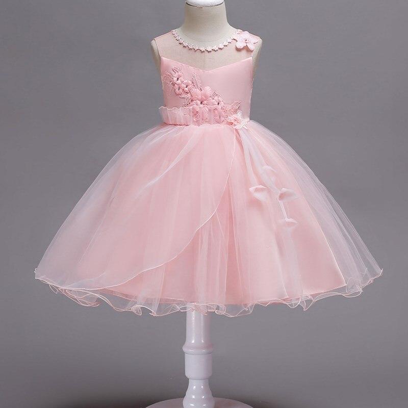 c25a4bbf23 Bebé 2-15 años adolescente Niñas princesa Vestidos chica bordado Rosa niños  vestido formal Monzón