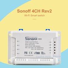 SONOFF 4CH R2 Wifi interruptor inteligente control remoto 2,4G electrodomésticos automatización inteligente Módulo de ahorro de energía 433 MHz
