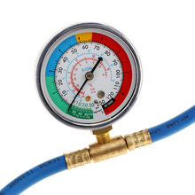 Car Air Conditioning AC R134A Refrigerant Charging Hose Low Pressure Gauge цена