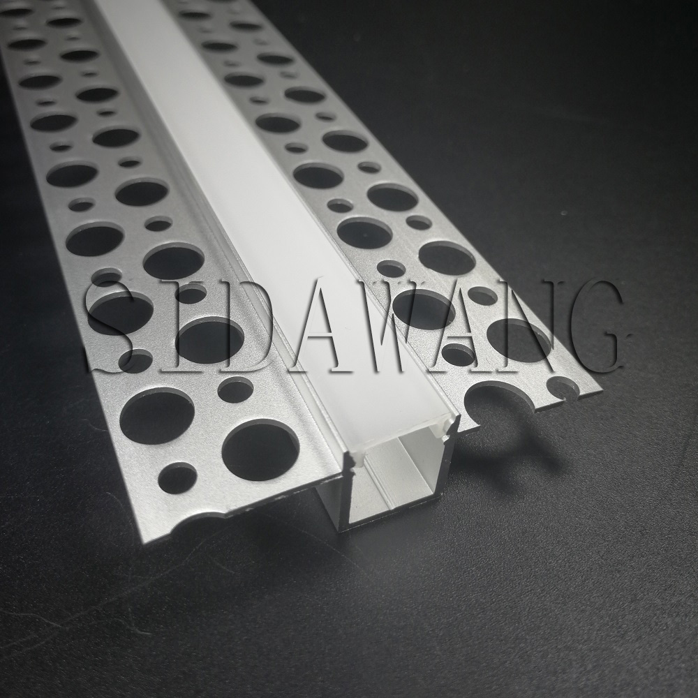 2000mm set 10meter to 60meter pack Recessed drywall Aluminium led profile with long flange channel for