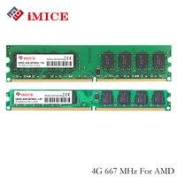 IMICE Pour AMD De Bureau PC Béliers DDR2 4 GB RAM 800 MHz PC2-6400S 667 MHz 240-Pin 1.8 V DIMM Pour AMD Ordinateur Mémoire Garantie