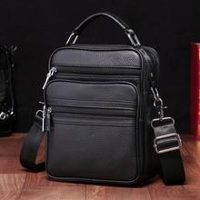 BAQI Brand Men Handbags Genuine Leather Cow Leather Man Shoulder Messenger Bag 2019 Fashion High Quality Casual Ipad Phone Bag