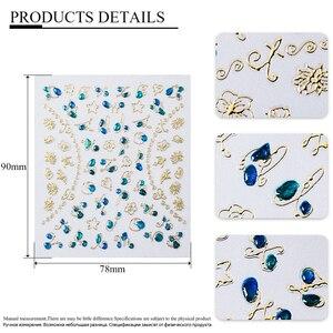 Image 5 - Очаровательные 3D цветные наклейки для ногтей, украшения для ногтей, дизайн ногтей, слайдеры, украшение для маникюра «сделай сам»