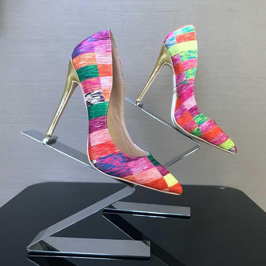 Ze skóry lakierowanej punkt Toe damskie buty pompy butów sukienka wysoki obcas buty ślubne obuwie kobieta pompka imprezowa platformy klinowe wysokie obcasy