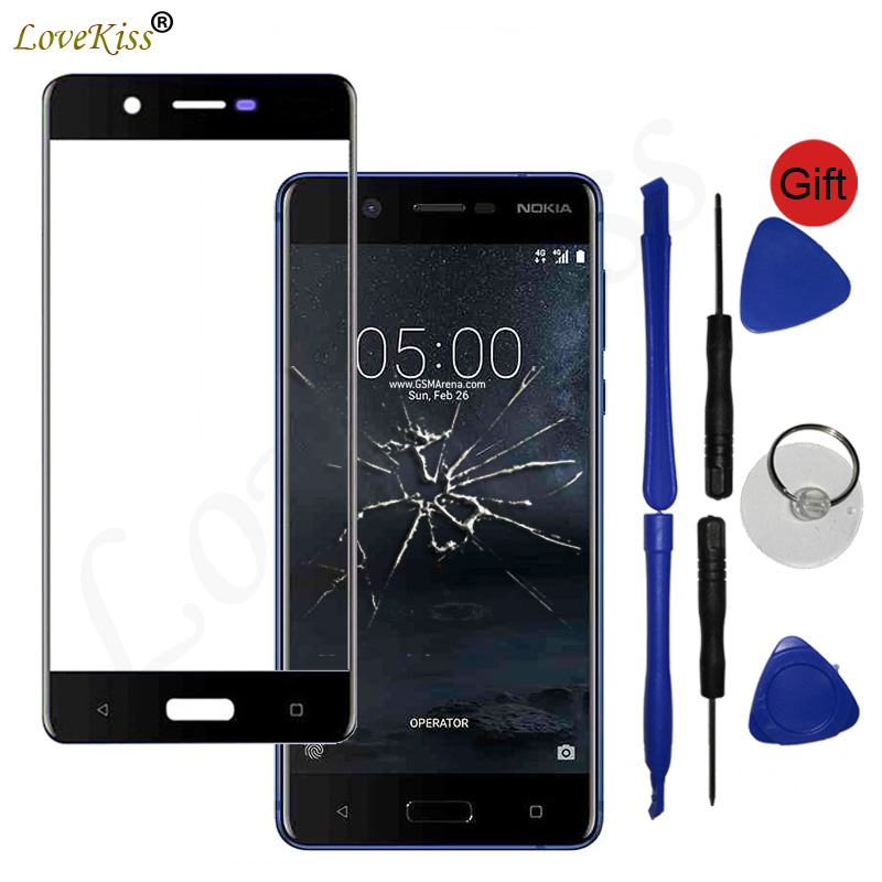 Front Panel For Nokia 5 TA-1053 N5 TA-1024 Touch Screen Sensor LCD Display Digitizer Glass Cover Nokia5 Touchscreen Replacement