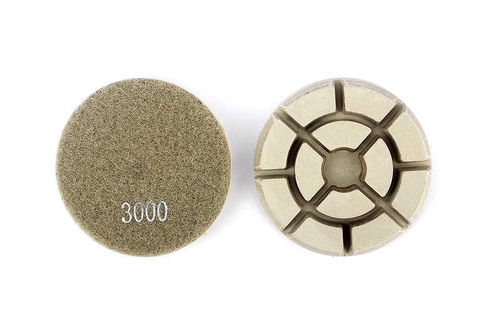 "Diamond Floor Polishing Pads Dry Wet Use Marble Grinding Disc Stone Granite Abrasive Tool 3""/4"" Diamond Polish - 7 Pcs/Set"