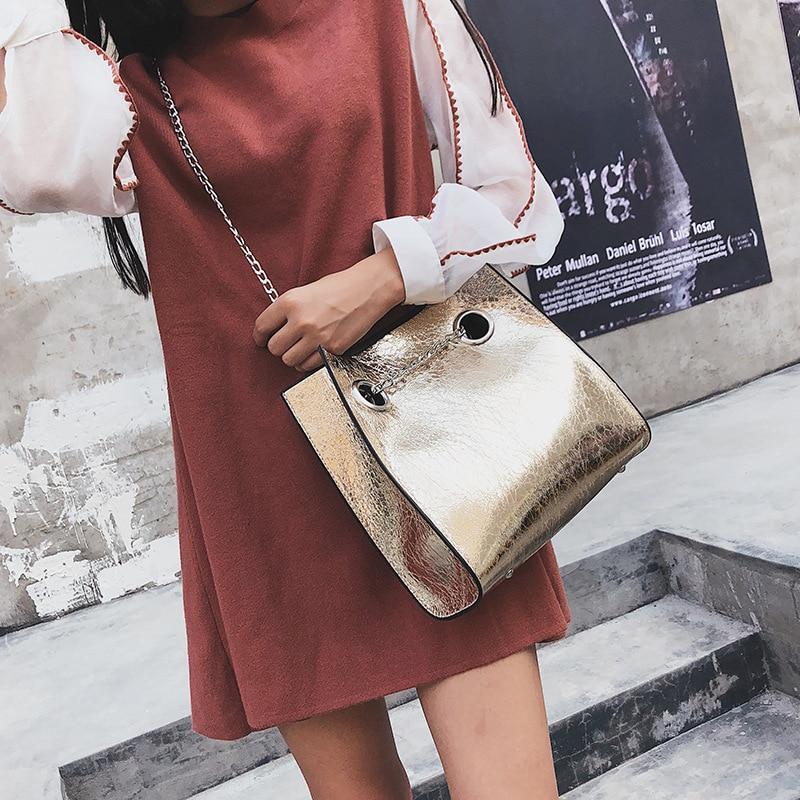 Big Tote Female Bag Burst Crack Chain Shoulder Messenger Bag 1