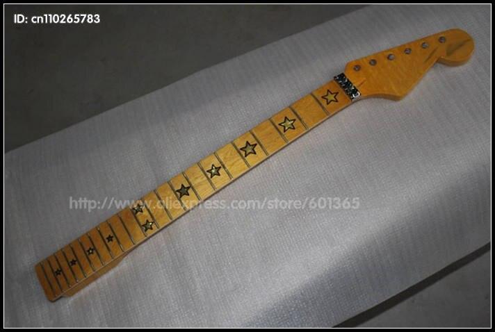 Star incrustation 22 frettes contre-écrou érable canadien guitare électrique cou kit guitare électrique kits touche érable