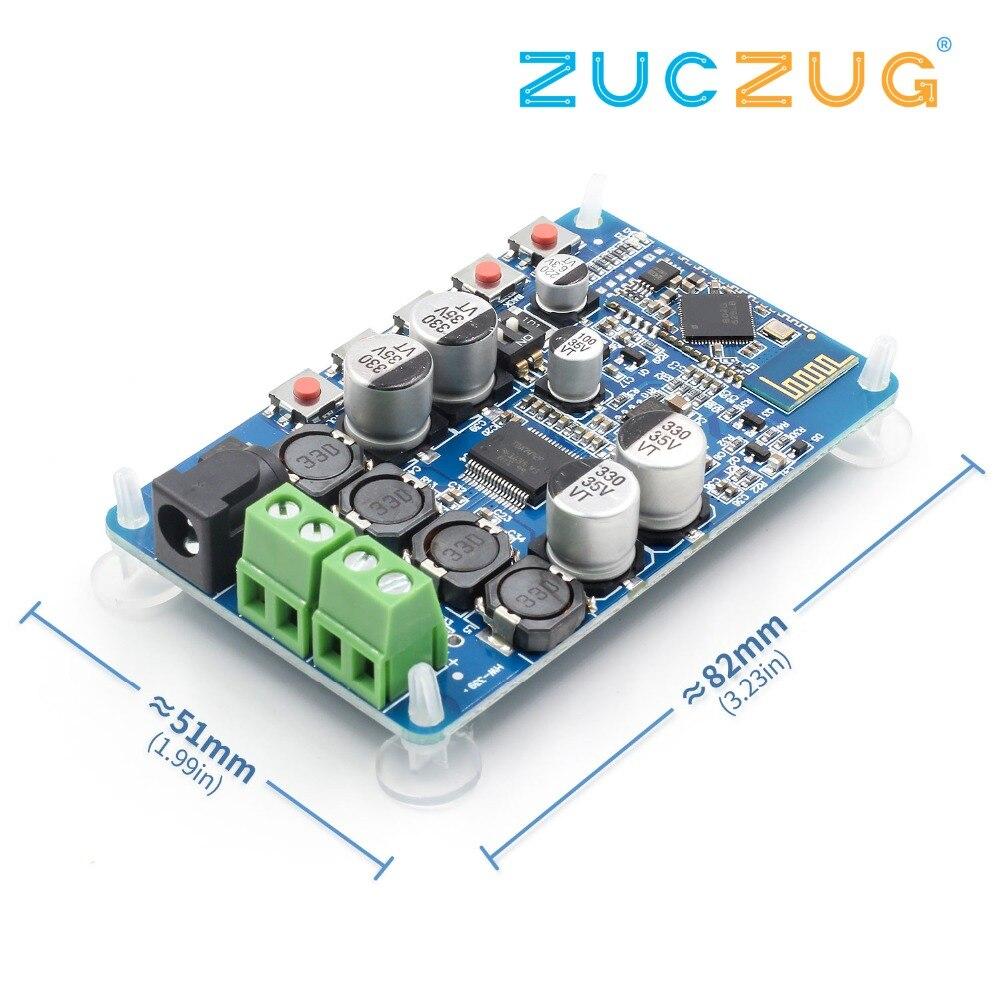 Placa Amplificador De Áudio Bluetooth Receptor Bluetooth 4.2 CSR8635 2 TDA7492P x 50 W para 4/6/8/ alto-falantes Ohm 16 Módulo Componente Partes