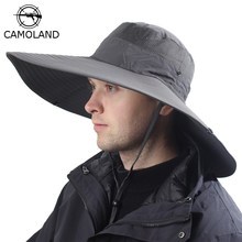 14cm Super Long Wide Brim Bucket Hat Breathable Quick Dry Men Women Boonie Hat Summer UV Protection Cap Hiking Fishing Sun Hat(China)