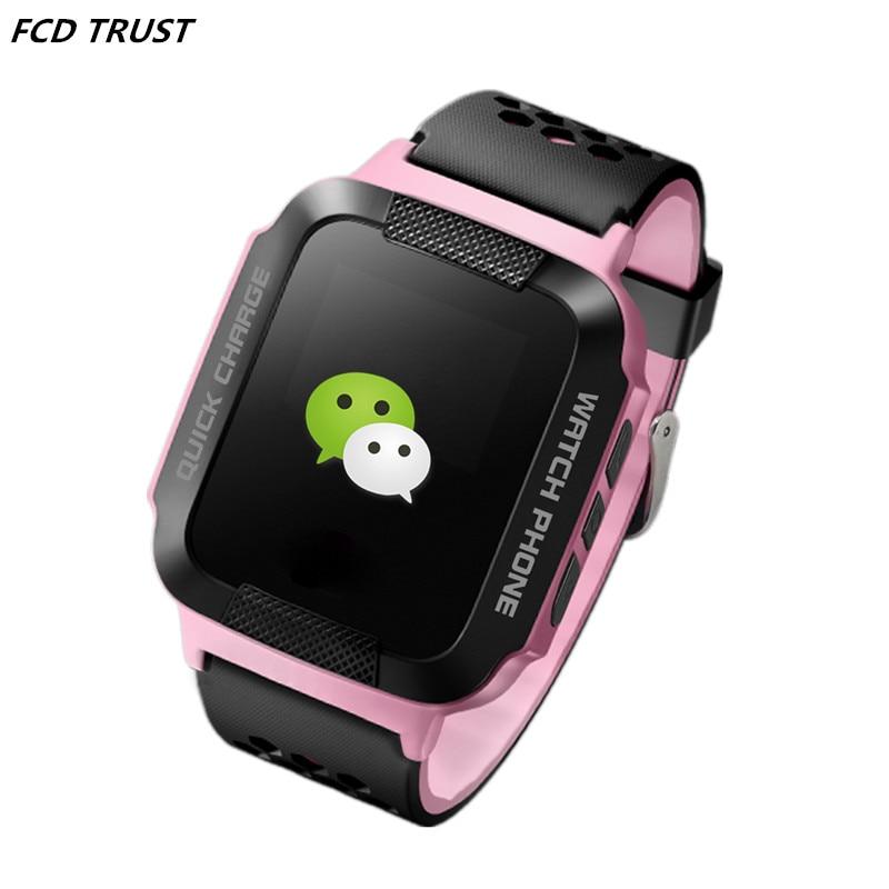 imágenes para Gps rastreador bebé smart watch pantalla c1 1.44 ''square niños smartwatch SOS Llamada anti-perdida para Android IOS Teléfono PK Q50 Q70 Q90