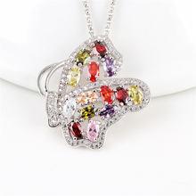 Rongqing 1 шт/лот полые циркониевые бабочки ожерелье cz камень