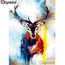 Dispaint Full Square/Round Drill 5D DIY Diamond Painting Oil painting deer Embroidery Cross Stitch 3D Home Decor A12688