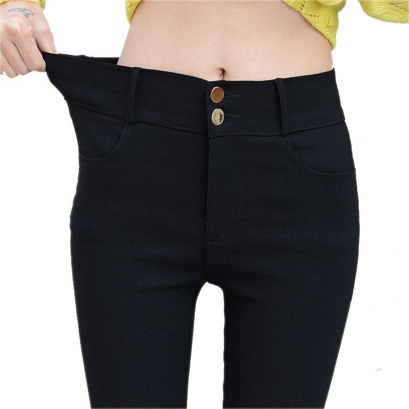 Fashion 2019 New Spring Elegant Women's Ol Work Wear Slim Stretch Pencil Pants Trousers Leggings For Women Female Plus Size 1340