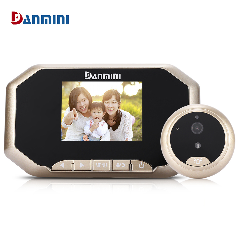 Danmini YB-30AHD 3.0 inch TFT LCD Screen Night Vision Wide Angle Video Record Photo Shooting Digital Door Peephole Viewer original danmini 3 0 tft lcd color screen door peephole viewer ir led night vision light doorbell 145 degrees view angle system
