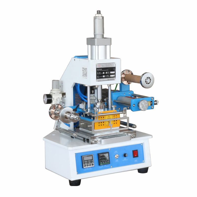 ZY 819E Automatic Stamping Machine leather LOGO Creasing machine pressure words machine LOGO stampler name card