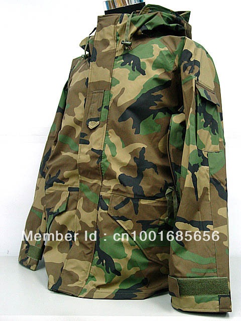 USMC Hoodie Waterproof ECWCS Gen 1 Parka Jacket Camo Woodland OD Desert Camo  ACU BK CP