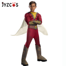JYZCOS Shazam Cosplay Costume Halloween Costumes for Kids Boys Superhero Shazam Costume Fancy Jumpsuit Carnival Party Costumes