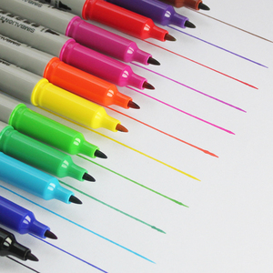 Image 1 - 12 sztuk SIMBALION 12 kolory podwójny z markerem z długopis na bazie oleju Marker permanentny artykuły papiernicze artykuły biurowe szkolne materiały malarskie dostawy nowy