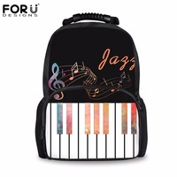 FORUDESIGNS Brand Stylish Travel Large Capacity Backpack Men Piano with Music Note Pattern Student School Backpacks Kids Mochila