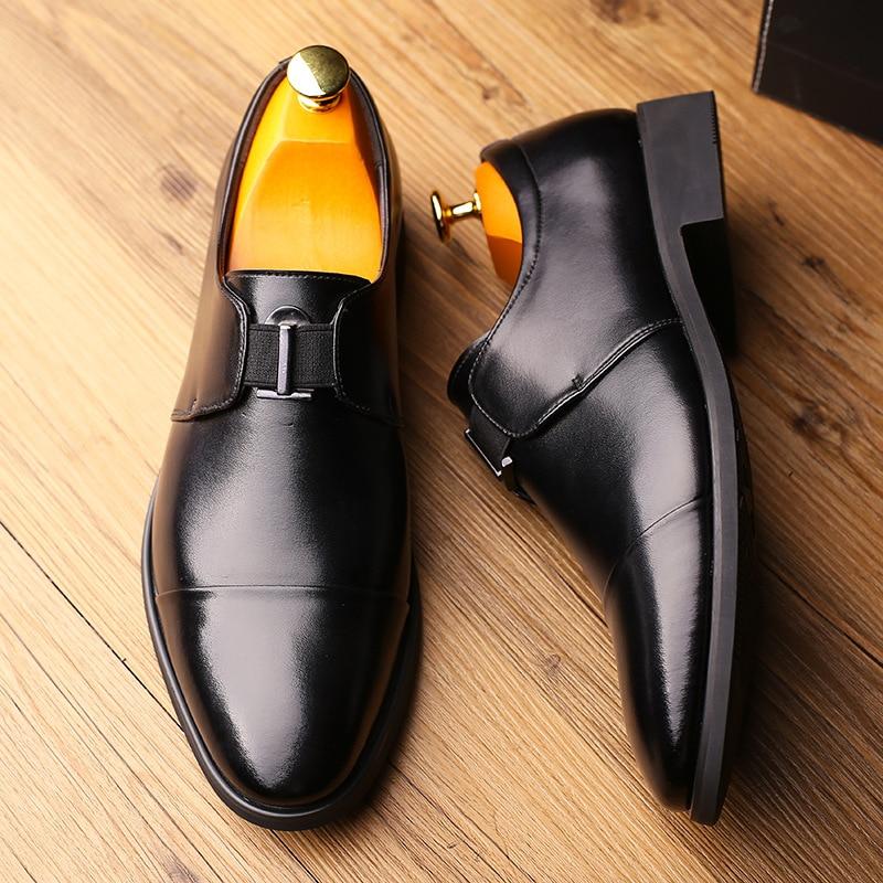 Loafers Vestido Zapatos Casual Masculino Para Negócios De Deslizamento Hombre Sapato Formal 2 2019 Sapatos Casamento Oxfords 1 Shoes Em Homens qORYxwZnv