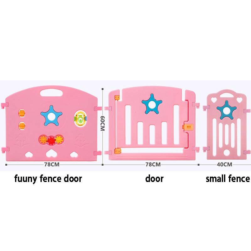 Indoor Baby Kojec Outdoor Kids Graj w gry Fence Toddler Crawl - Aktywność i sprzęt dla dzieci - Zdjęcie 5