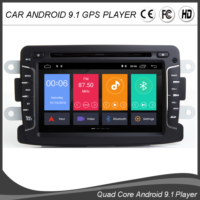 Android 9.0 Quad Core CAR DVD GPS Player For Dacia Sandero Duster Captur Lada Xray 2 Logan 2 Dokker Lodgy Radio BT WIFI SAT NAVI image