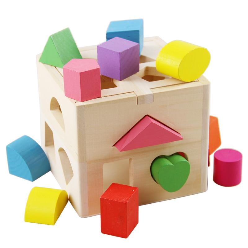 comprar beb juguetes forma cube geometra educativos juguetes de madera para nios juguete intelectual clsica caja de regalo