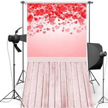 MEHOFOTO Heart Wall New Fabric Flannel Photography Background For Wedding Floor Vinyl Backdrop For Children photo studio F1277 цена